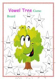 Vowel Tree Game Board