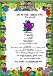 English Worksheet: HOW TO PREPARE A NICE CUP OF TEA