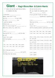 Song Activity - Giant   -   Rag'n'Bone Man  & Calvin Harris