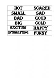 English Worksheet: Gradable and extreme adjectives