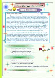 English Worksheet: The Solar system