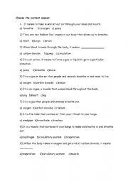 English Worksheet: organs