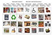 English Worksheet: supermarket vocabulary