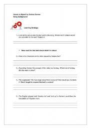 English Worksheet: Hands to Myself