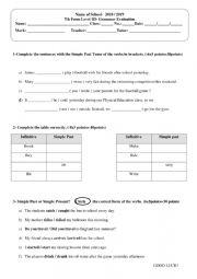 Evaluation on Simple Past
