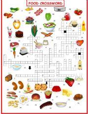 English Worksheet: Food  Crossword 1 OF 3 exercise set
