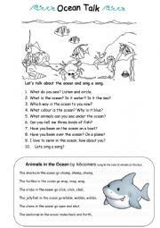 English Worksheet: Ocean Talk