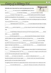 English Worksheet: Diary of a wimpy kid activity