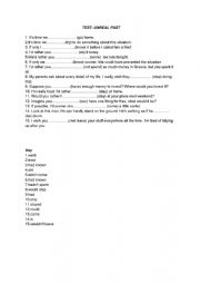 English Worksheet: Unreal past - test