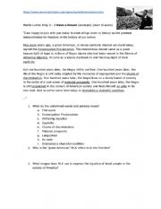 English Worksheet: I have a dream speech, Martin Luther King