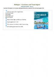 English Worksheet: tourism IV - Writing - Dialogue - SUNSARA RESORT - Mexico