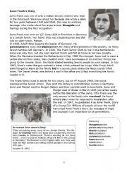 English Worksheet: Anna Frank