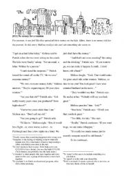English Worksheet: Reading for Adults: The O�Malley Family -- No money for a reunion