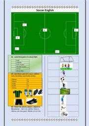 English Worksheet: Soccer English