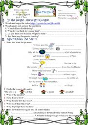 English Worksheet: save the Earth