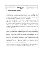 English Worksheet: let�s make every day an earth day