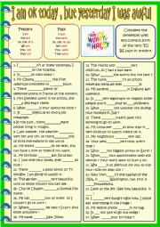 English Worksheet: Be : past or present practice