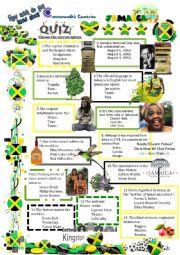 English Worksheet: Commonwealth Countries-Jamaica-Quiz