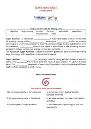 English Worksheet: company profile technical English