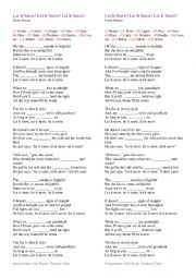 English Worksheet: Frank Sinatra - Let it snow worksheet