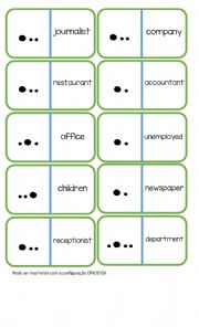 English Worksheet: Pronunciation Dominoes - Word Stress (page 1/2)