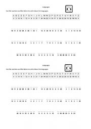 English Worksheet: Language Cryptogram