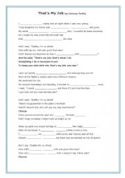 English Worksheet: That�s My Job by Conway Twitter (for Father�s Day)