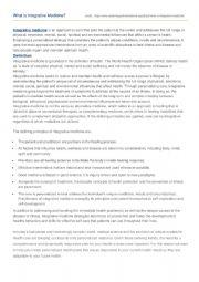 English Worksheet:  Reading: What is Integrative Medicine?