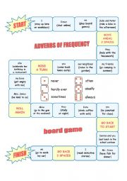 English Worksheet: ADVERBS OF FREQUENCY - board game