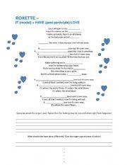 English Worksheet: Roxette