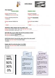 English Worksheet: Making hypothesis