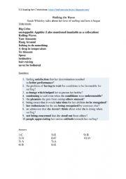 English Worksheet: FCE Reading Part 7 Broken Down