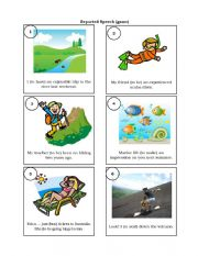 English Worksheet: Reported Speech (card game)