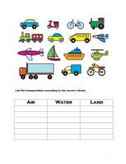 List transportation