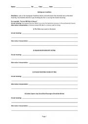 English Worksheet: Ambiguous Headlines