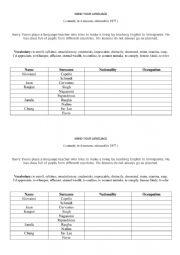 English Worksheet: Mind your language