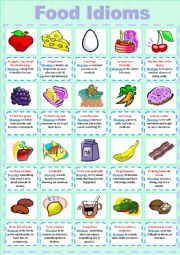 English Worksheet: Food Idioms