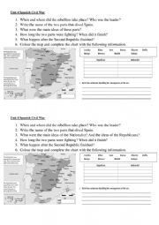 English Worksheet: SPANISH CIVIL WAR