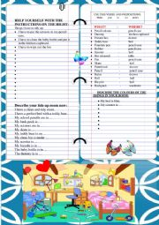English Worksheet: WORKSHEET ´Tidying up my room´ WRITING AND DESCRIBING THINGS