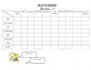 English Worksheet: Routine battleship