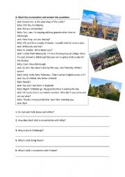 English Worksheet: KET  Preparation Worksheet- Mixed Exercises and A Reading Text