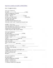 English Worksheet: Song on New year�s resolutions