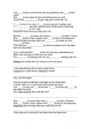 English Worksheet: You belong with me - song activity