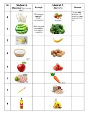 English Worksheet: SOME ANY HAVE GOT food products worksheet