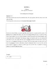 English Worksheet: Basic proficiency test for intermediate students