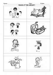 English Worksheet: Rules at the library