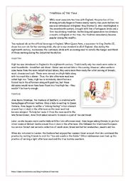 English Worksheet: Tradition of Tea time