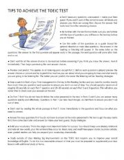 English Worksheet: tips for toeic
