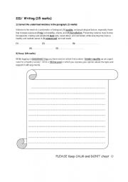 writing for second form