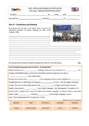 English Worksheet: Test on Global English